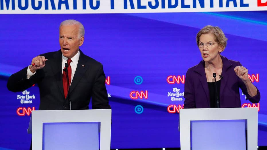 Democratic presidential candidate Joe Biden ramps up attacks on 2020 rival Elizabeth Warren
