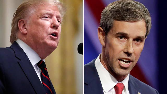 President Trump and Beto O'Rourke hold dueling rallies in Texas