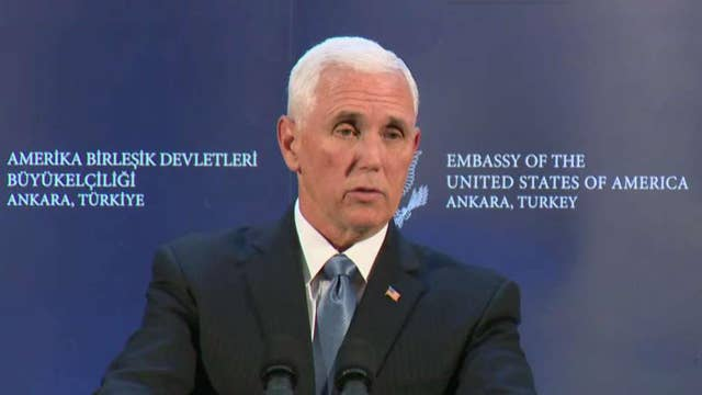 Vice President Pence announces US and Turkey agree to cease fire in Syria
