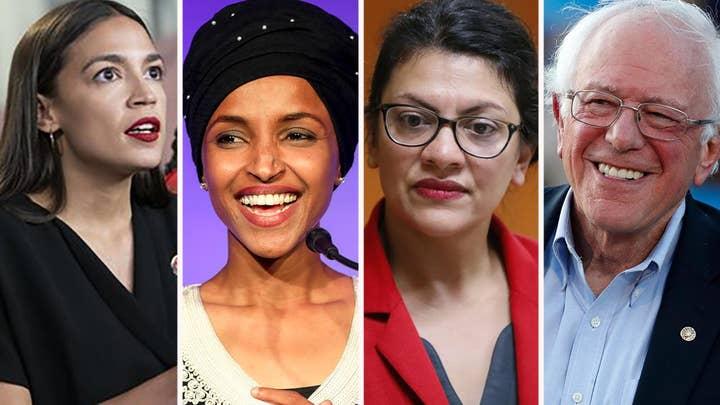 Far-left freshman lawmakers throw their support behind Bernie Sanders