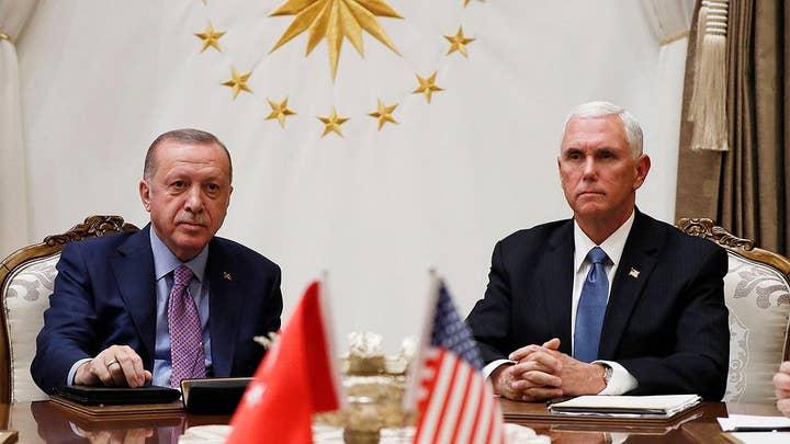 Vice President Pence meets with Turkish President Erdogan in Ankara