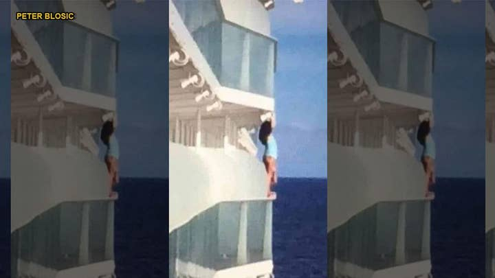 Royal Caribbean cruise passenger banned for life after scaling balcony to take selfie