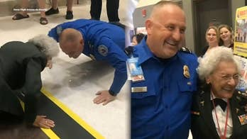 84-year-old US Army vet challenges TSA agent to 10 push ups
