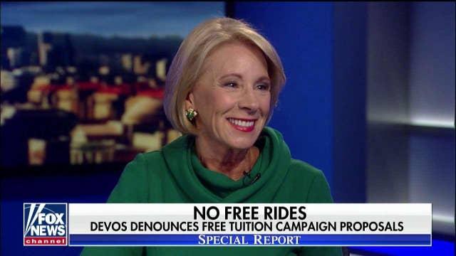 Betsy DeVos responds to Democrats' calls to erase student debt