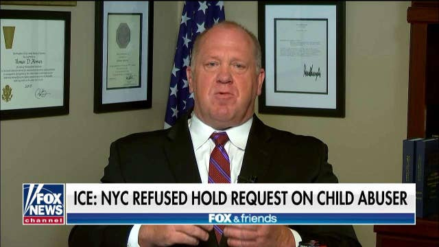 Tom Homan reacts after ICE says New York authorities refused request to hold child abuser for deportation