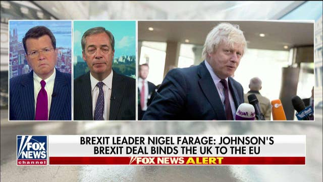 Nigel Farage talks Prime Minister Boris Johnson's push for Brexit deal support