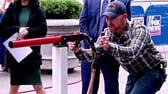 Farmers bring 'corn cannon' to the Fox Square!