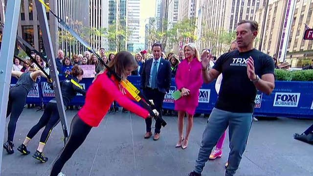 Former Navy SEAL brings his TRX Suspension Trainers to Fox Square
