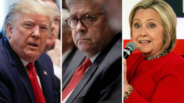 Trump calling for Barr to investigate ties between Hillary Clinton, dossier and Ukraine