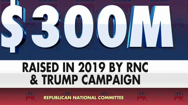 President Trump, RNC have raised over $300 million for his re-election