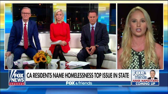 Tomi Lahren reacts after CA residents name homelessness a top issue in the state