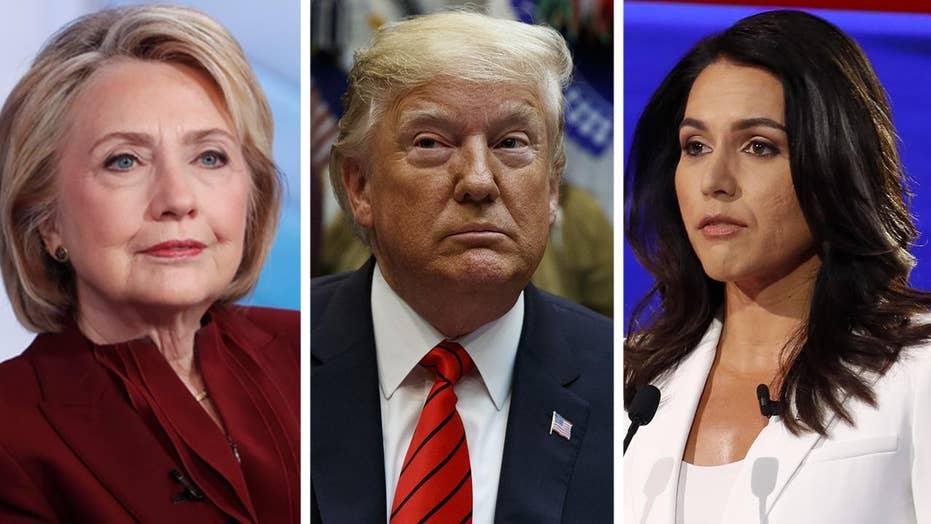 Trump defends Tulsi Gabbard amid Hillary Clinton accusation