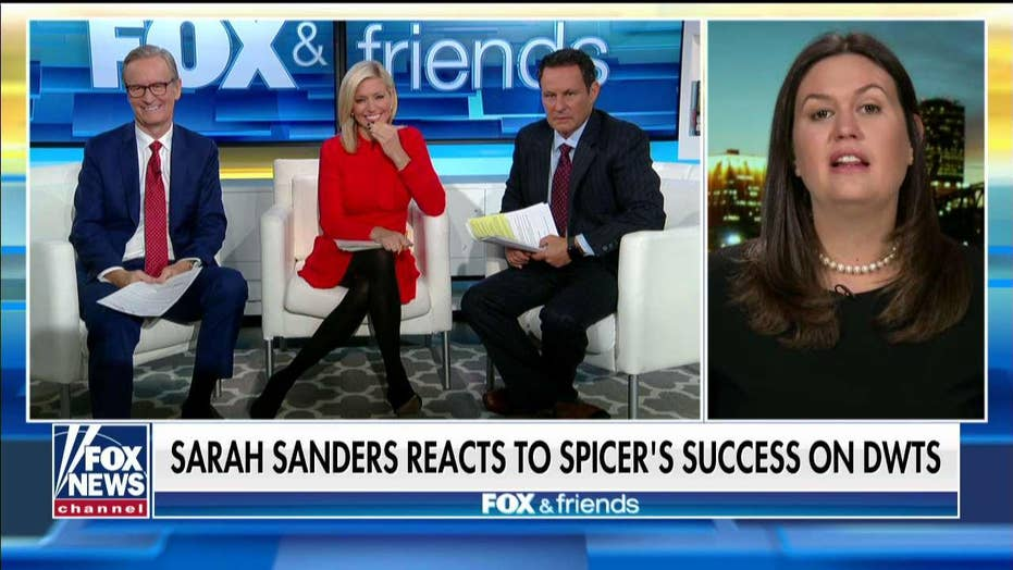 Former WH Press Sec. Sarah Sanders discusses Sean Spicer's 'DWTS' run