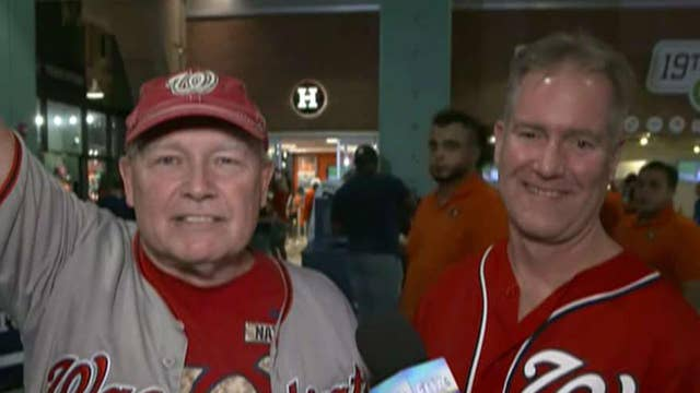 Fans pack Minute Maid Park for game one of the Astros-Nationals World Series