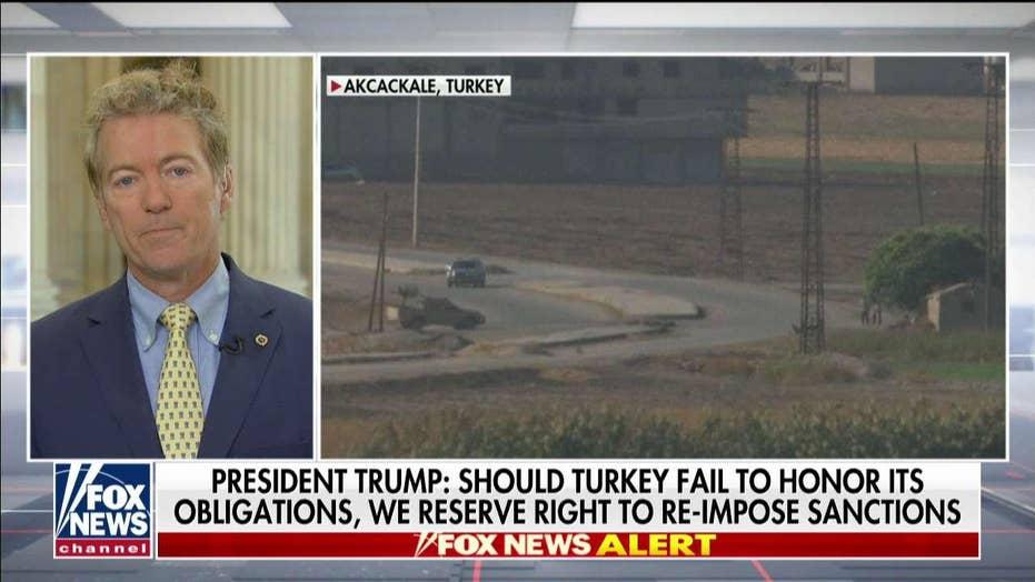 Rand Paul praise's President Trump's 'extraordinary breakthrough' in Syria