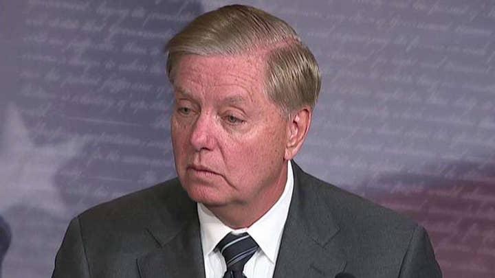 Senator Lindsey Graham introducing resolution to condemn Trump impeachment inquiry