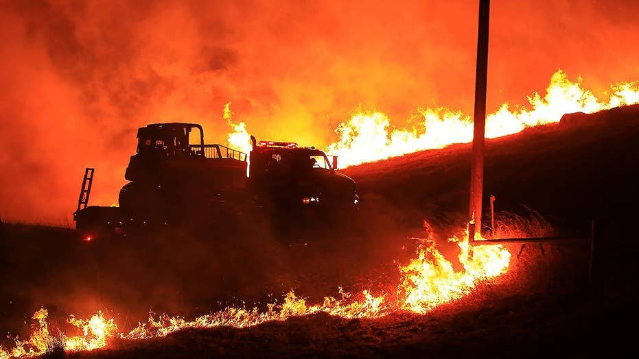 Geyserville, California under evacuation as wildfire burns out of control
