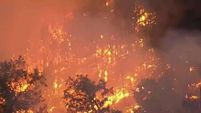 Kincade fire burning the length of a football field every 3 seconds in Northern California