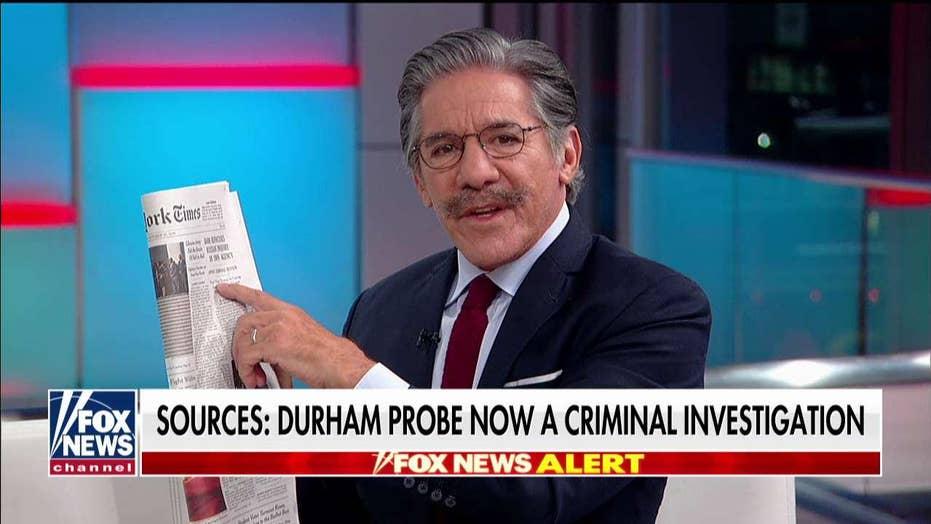 Geraldo Rivera predicts 'run' on DC defense attorneys as Durham's probe of Trump-Russia investigators deepens