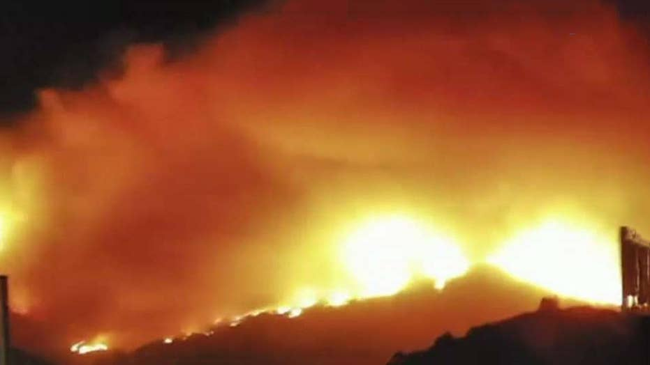 Several wildfires burning across CA prompt evacuations