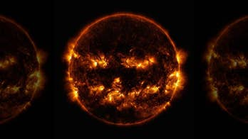 SEE IT: NASA shares image of the sun resembling a jack-o'-lantern