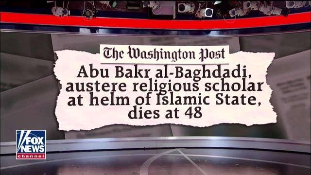 Mike Pompeo blasts the Washington Post for 'appalling and sick' al-Baghdadi headline