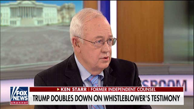 History will judge Democrats harshly for impeachment of Trump, says Ken Starr