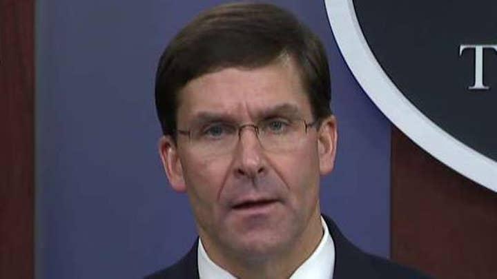 Defense Secretary Mark Esper leads Pentagon briefing on raid that killed ISIS leader al-Baghdadi