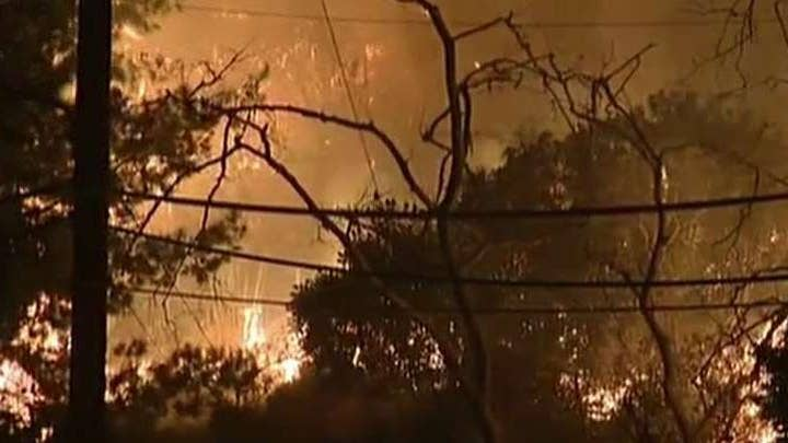 Getty fire forces thousands from homes in Brentwood, Los Angeles