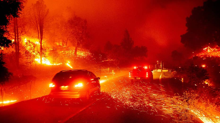 New video from the ground shows obstacles facing firefighters in California
