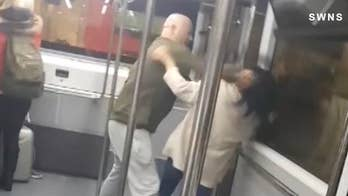 Caught on Video: Airline passengers brutally brawl on airport shuttle bus
