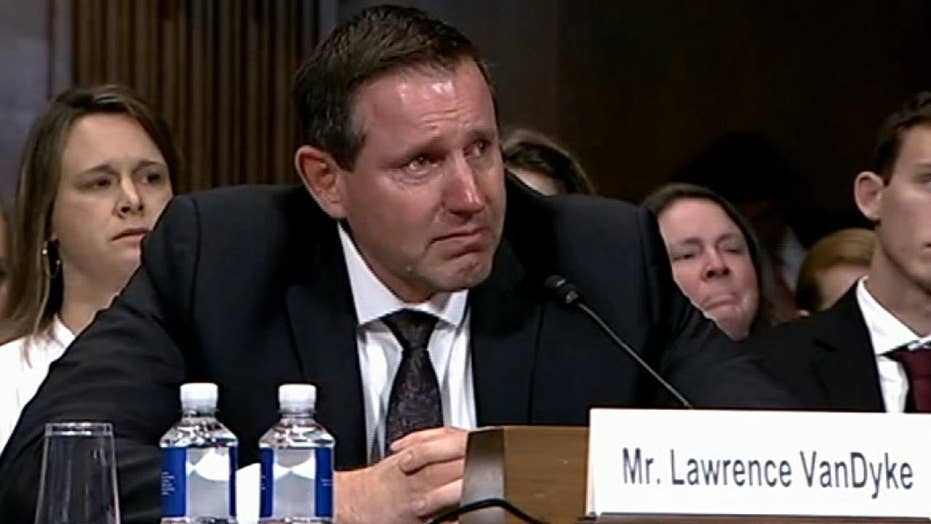 Trump judicial nominee Lawrence VanDyke brought to tears during Senate hearing