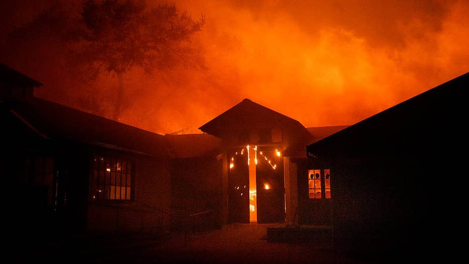 Fierce winds drive wildfires in Southern California