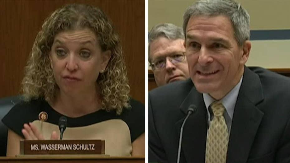 Rep. Debbie Wasserman Schultz spars with Ken Cuccinelli at House hearing