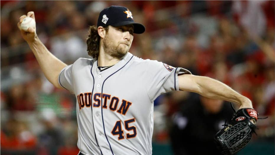 Gerrit Cole wears Boras Corp hat, distances himself from Astros moments after World Series loss