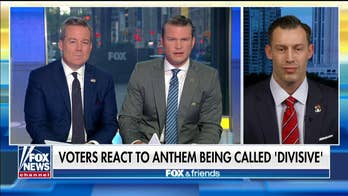 Joey Jones reacts after the New York Times slams TV affiliates airing the national anthem