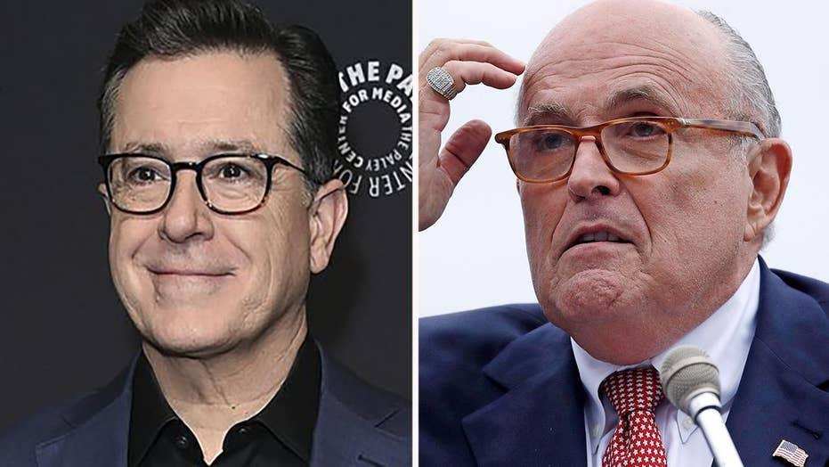 Stephen Colbert rips Rudy
