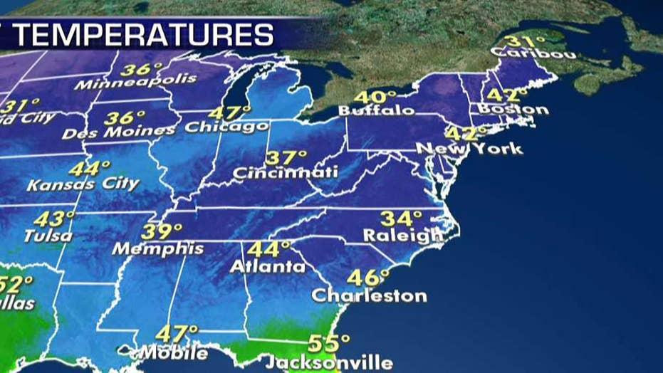 National forecast for Monday, November 4