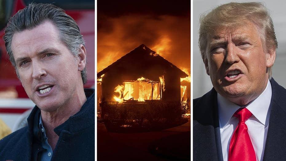 Trump, Newsom feud over handling of California wildfire crisis