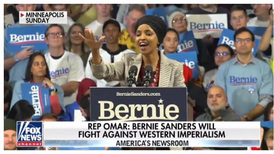 Ilhan Omar Rallies Against Western Imperialism