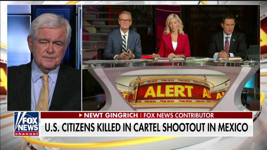 Newt Gingrich reacts after at least nine American citizens are killed by a Mexican drug cartel
