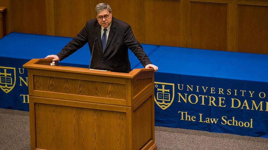 Is William Barr guilty of spreading 'toxic Christianity' in speech at Notre Dame University Law School?