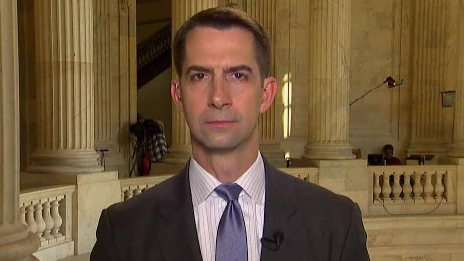 Sen. Tom Cotton says the only answer to heavily armed Mexican cartels is more bullets and bigger bullets