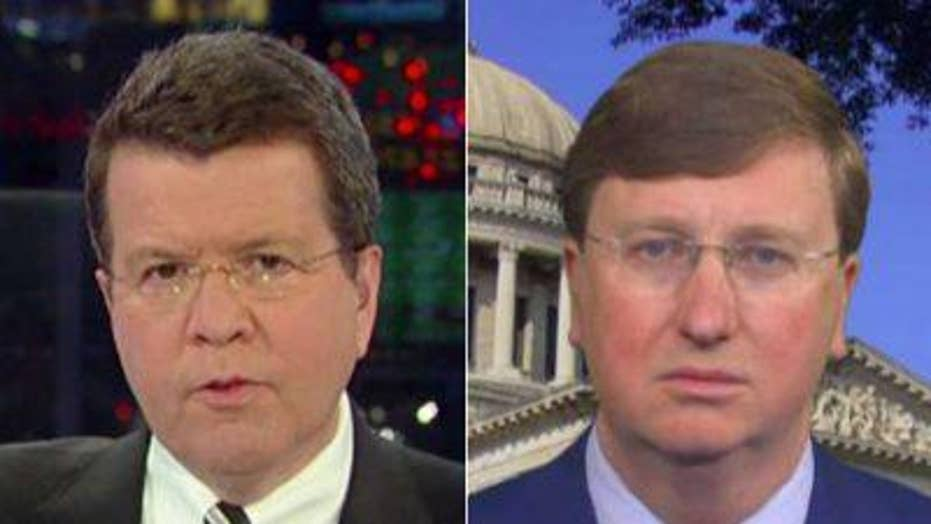 Tate Reeves reacts to Mississippi governorship win