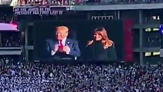 President Trump greeted with applause at Alabama-LSU game