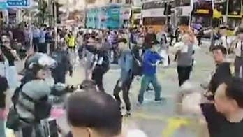 Dramatic new video of Hong Kong clashes