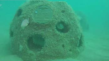 Underwater memorial pays tribute to submariners