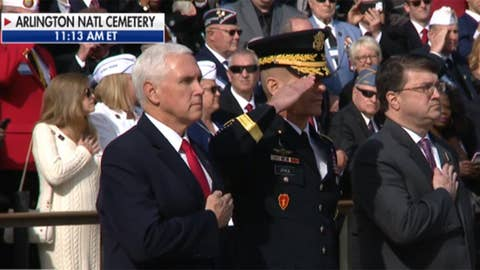VP Pence lays wreath at Tomb of Unknown Soldier