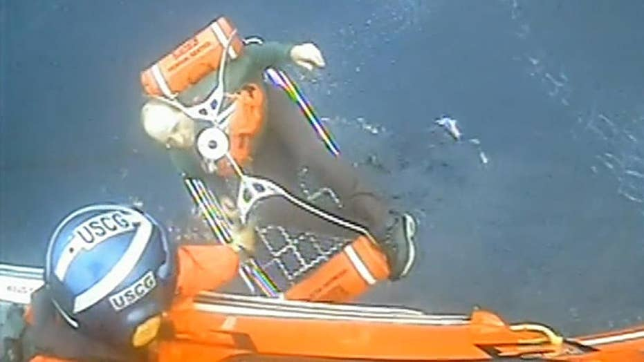 Coast Guard rescues three people from capsized fishing boat off the California coast