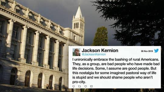 UC Berkeley instructor calls rural Americans 'bad people' who deserve 'uncomfortable' lives